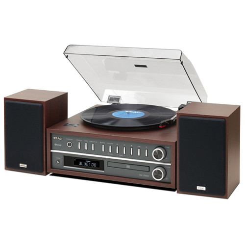 Teac MC-D800 Stereo USB Sound System with Turntable/CD/Radio/Bluetooth (Cherry)