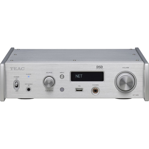 Teac Dual Monaural USB DAC/Network Player Supporting DSD512 and PCM32/768 (Silver)