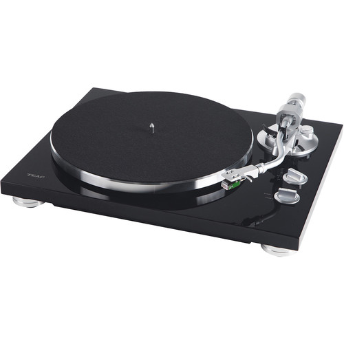 Teac TN-400S Belt-Drive Turntable with Phono Amplifier and USB (Gloss Black)