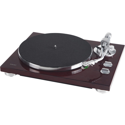 Teac TN-400S Belt-Drive Turntable with Phono Amplifier and USB (Gloss Cherry)