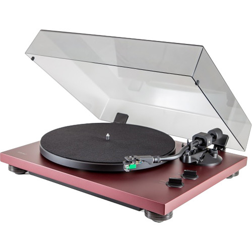 Teac TN-400S Belt-Drive Turntable with Phono Amplifier and USB (Matte Bordeaux, Audio-Technica AT100E Cartridge)