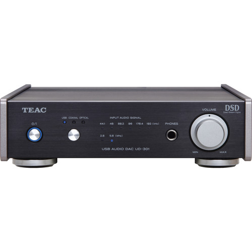 Teac UD301XB Compact DAC (Digital to Analogue Converter) with USB Audio Input