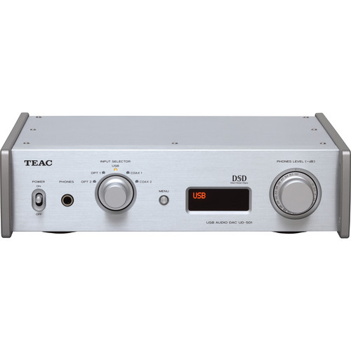 Teac UD-501-S Dual-Monaural D/A Converter with USB Streaming (Silver)