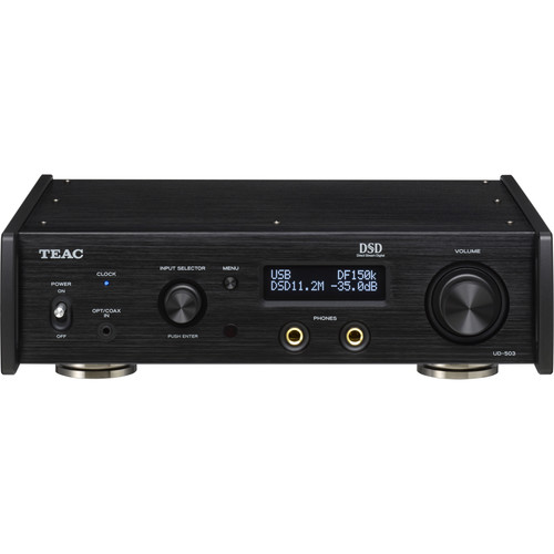 Teac Dual-Monaural USB DAC w/ Fully Balanced Headphone Amplifier for 11.2 MHz DSD (Black)