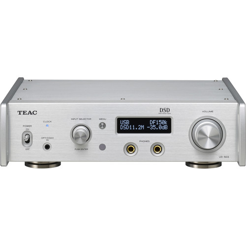 Teac UD-503-S Dual-Monaural USB DAC with Balanced Headphone Amplifier (Silver)
