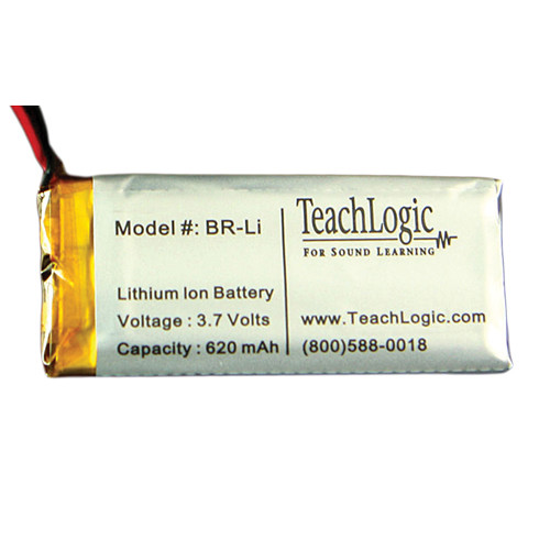 TeachLogic BR-Li Lithium-Ion Rechargeable Battery for Sapphire IRT-60 Microphone