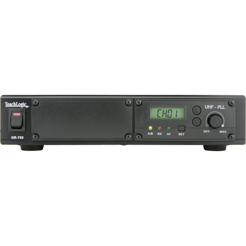 TeachLogic DR-702 AirLink 96-Channel Standalone Diversity Receiver with Slot for DD-750 Digital Delay Module