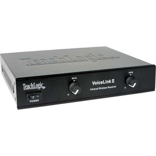 TeachLogic IR-268N VoiceLink II 2-Channel Infrared Receiver with Power Supply
