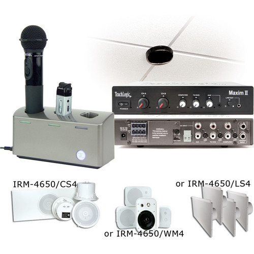 TeachLogic IRM-4650 Maxim II Receiver with Sapphire Transmitter, Handheld Microphone and Plug-In / Drop-In Battery Charger