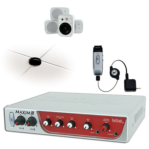 TeachLogic IRM-5150 Maxim III Wireless Microphone System with Four Wall-Mount Speakers