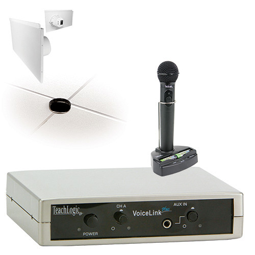 TeachLogic IRV-3350 VoiceLink Plus Wireless Microphone System with 2 Lay-in Panel Speakers