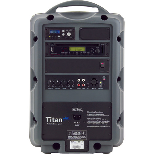 TeachLogic PA-809 Titan-Neo AC/Battery-Powered Portable Sound System Package with CD/MP3 Player & Handheld Microphone