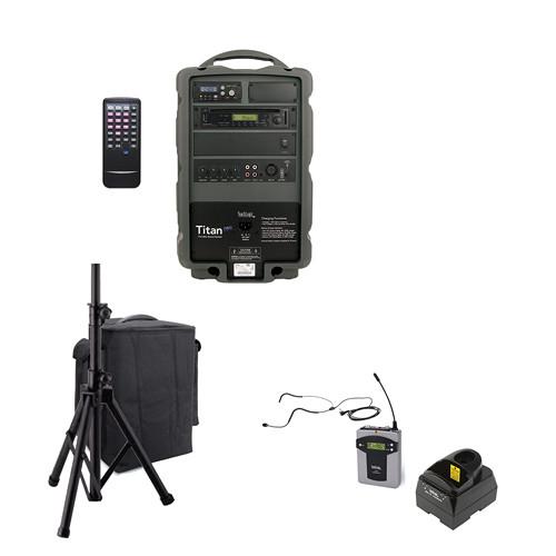 TeachLogic PA-850B Titan Neo Sound System with Bluetooth, Wireless Bodypack and Headband Microphone