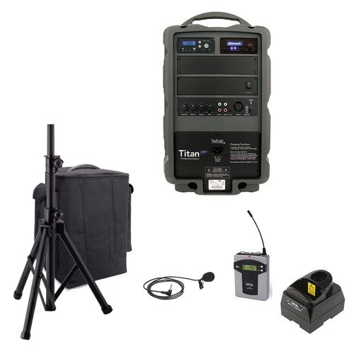 TeachLogic PA-850B Titan Neo Sound System with Bluetooth, Wireless Bodypack and Lapel Microphone