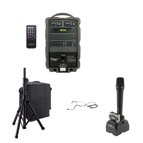 TeachLogic PA-875B Combo Titan Neo Sound System with Bluetooth and Headband Microphone