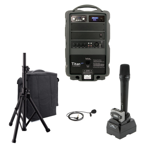 TeachLogic PA-875B Combo Titan Neo Sound System with Bluetooth and Lapel Microphone