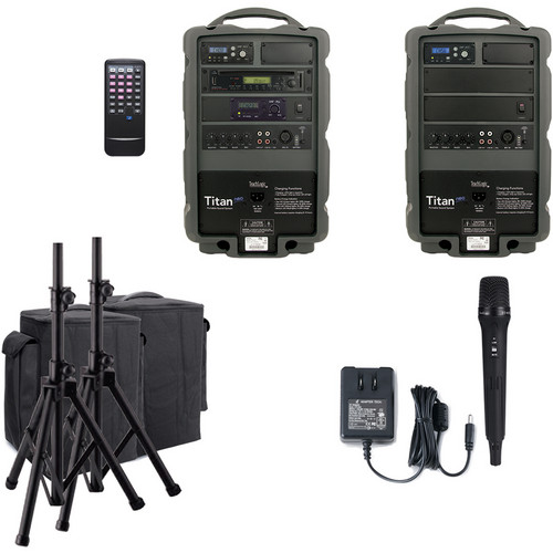 TeachLogic PA-880 Titan-Neo AC/Battery-Powered Handheld Sound System Package with Companion Speaker Unit