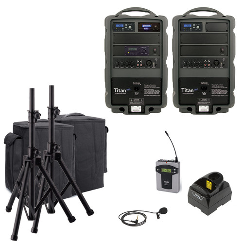 TeachLogic PA-885B Titan Neo Sound System with Bluetooth, Wireless Bodypack and Lapel Microphone