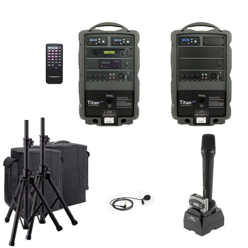 TeachLogic PA-890 Combo Titan Neo Sound System with Lapel Microphone