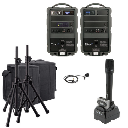 TeachLogic PA-890B Combo Titan Neo Sound System with Bluetooth and Lapel Microphone