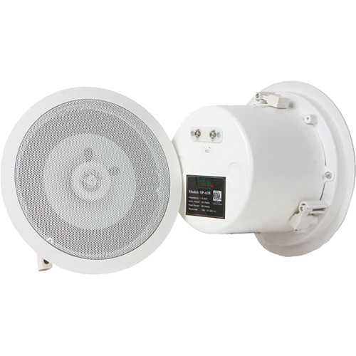 TeachLogic SP-628 Ceiling Speaker, Coaxial, 8 ohm, with Metal Back Can and Tile Bridge