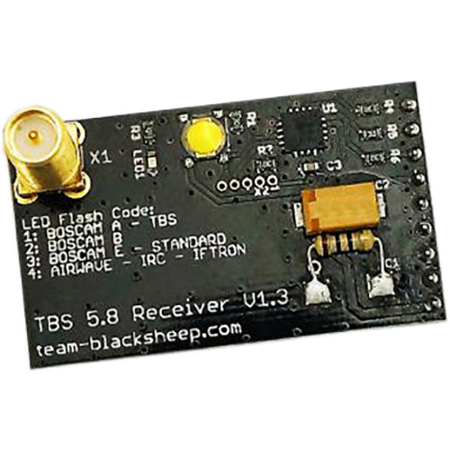 TEAM BLACKSHEEP Dominator 5.8 GHz 40-Channel Receiver and 5dBi Patch Antenna