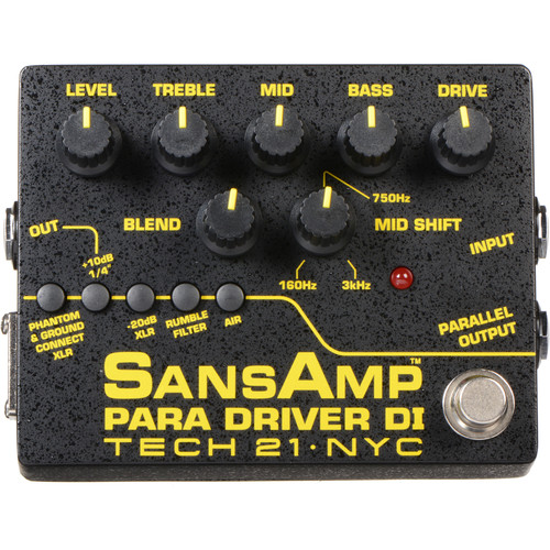 TECH 21 SansAmp Para Driver DI Pedal (v2)