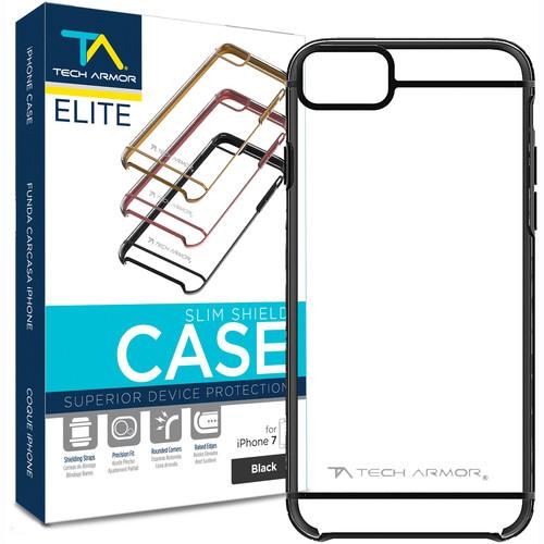Tech Armor ELITE SlimShield Case for iPhone 7 (Black/Clear)