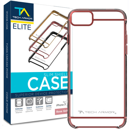 Tech Armor ELITE SlimShield Case for iPhone 7 (Rose Gold/Clear)