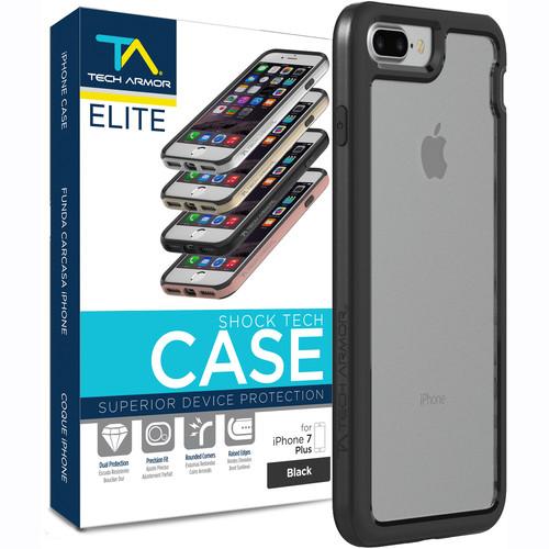 Tech Armor ELITE ShockTech Case for iPhone 7 Plus (Black/Clear)