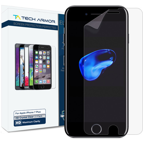 Tech Armor ELITE HD Clear Screen Protector for iPhone 7 Plus (2-Pack)