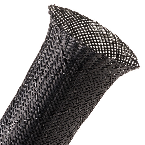 "Techflex Flexo Non-Skid Cable Sleeving (2"" Diameter, 25' Length, Black)"
