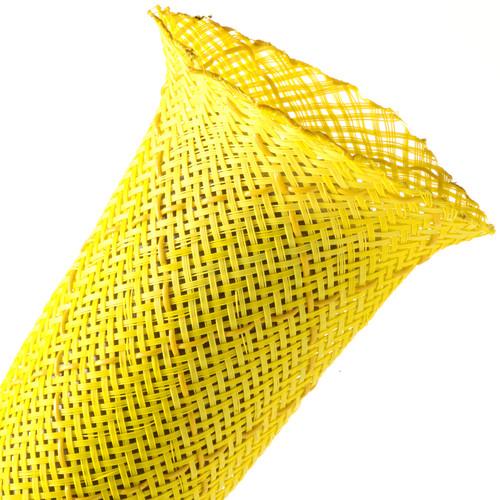 """Techflex Flexo Non-Skid Cable Sleeving (2"""" Diameter, 25' Length, Neon Yellow)"""