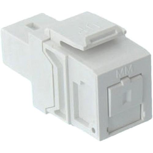 TechLogix Networx Leviton QuickPort SC Simplex Fiber Optic Keystone Adapter (White)