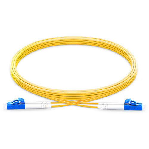 TechLogix Networx OS2 2.0mm Duplex Single-Mode Economy Premade Cable with LC to LC Connectors (16.4')