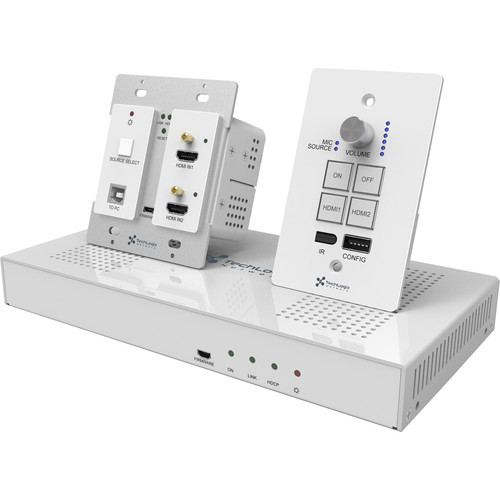 TechLogix Networx Classroom AV Kit of Wallplate Transmitter, Wallplate Controller, & Receiver