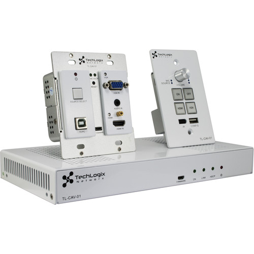 TechLogix Networx All-In-One Meeting Room & Classroom AV System with HDMI & VGA In (White)