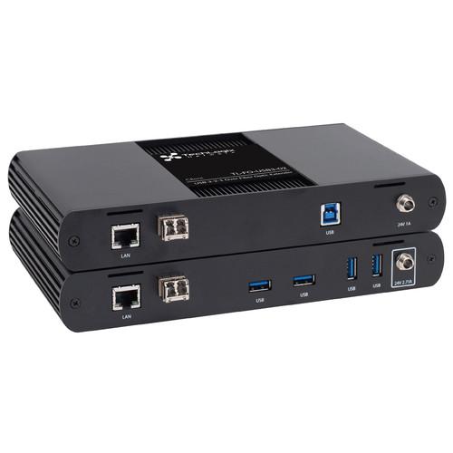 TechLogix Networx USB 3.1, 2.0 & 1.1 with Ethernet over Fiber Extender Set (650')