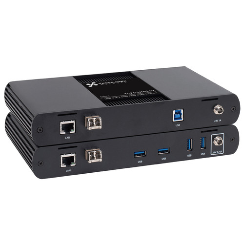TechLogix Networx USB 3.1, 2.0 & 1.1 with Ethernet over Fiber Extender Set (650')