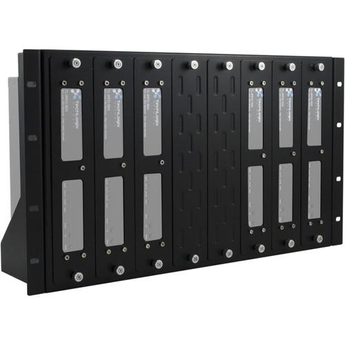 TechLogix Networx 8-Slot Rack Mounting Kit for AV over IP Encoders & Decoders (6 RU)