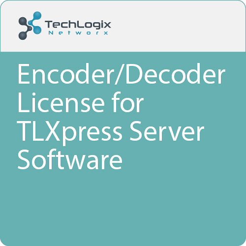 TechLogix Networx 1-Year Encoder/Decoder License for TLXpress Server Software (Download)