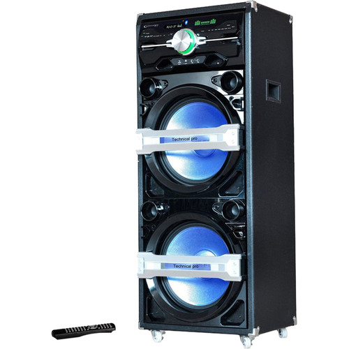 "Technical Pro Pro 15"" Speaker & Entertainment Center with Bluetooth & Built-in DVD Player"