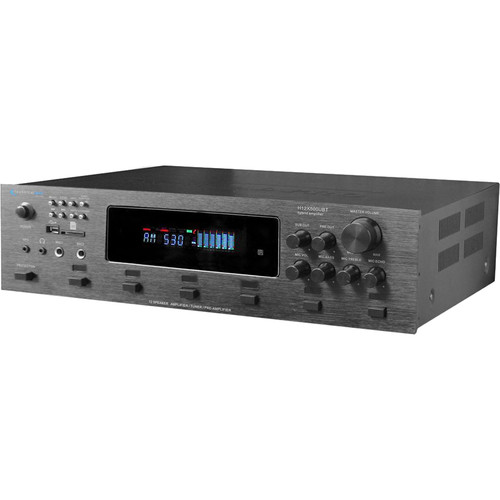 Technical Pro H12x500UBT 650W Digital Hybrid Amplifier/Preamp/Tuner with 12 Speaker Output