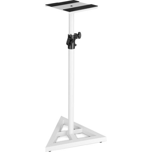 Technical Pro PTM3W Triangular Base Speaker Stands (Pair, White)