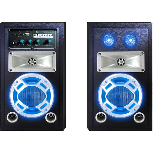 Technical Pro Stage-50 Bluetooth Stage Speaker System with Party Lights (Pair)