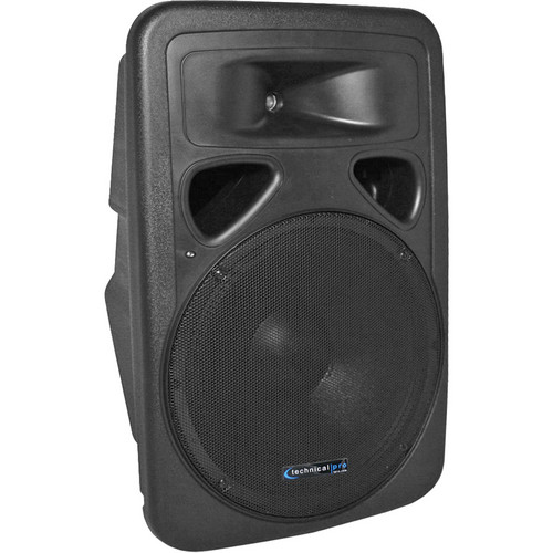 Technical Pro 1110w Rechargeable 12' Speaker With Battery Dock/SD/2-Mic
