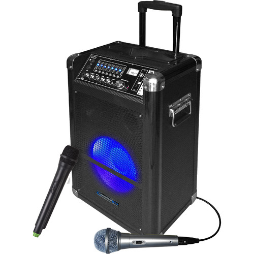 "Technical Pro WASP1250LBT 12"" Portable PA System with Wireless Microphone"