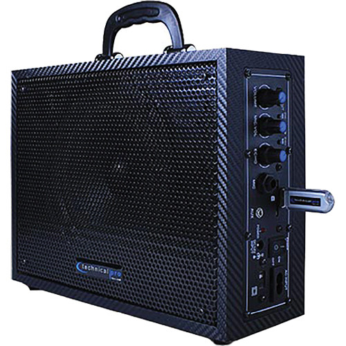 "Technical Pro WASP300 6.5"" Portable PA System with Rechargeable Battery (Black)"