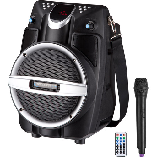 "Technical Pro WASP550LBT 6.5"" Rechargeable Battery Powered Bluetooth PA System (Black)"
