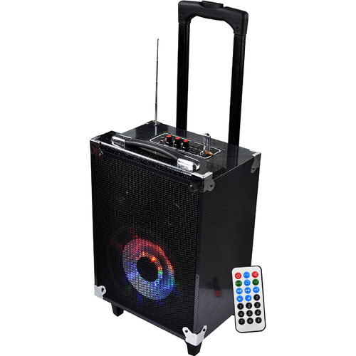 "Technical Pro WASP680 8"" Portable Bluetooth PA System with Wireless Handheld Microphone"